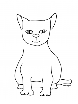 Coloring page of graceful cat