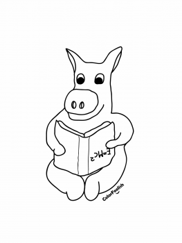 Coloring page of a smart donkey